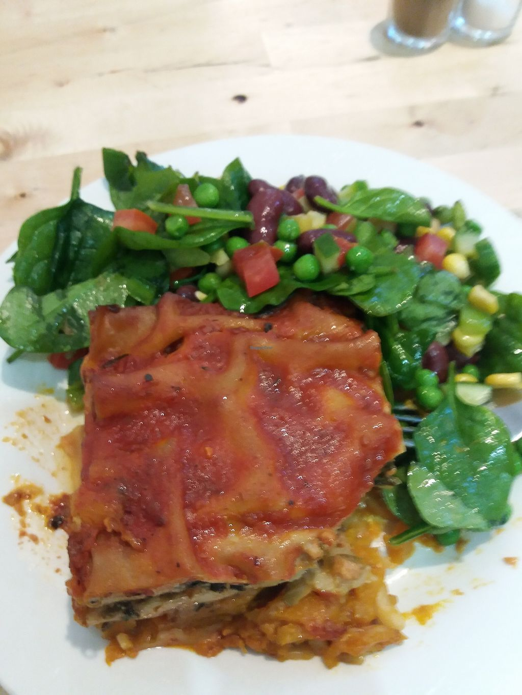 """Photo of Hari's Vegetarian  by <a href=""""/members/profile/veganvirtues"""">veganvirtues</a> <br/>Veggie lasagne <br/> July 11, 2017  - <a href='/contact/abuse/image/32555/279002'>Report</a>"""