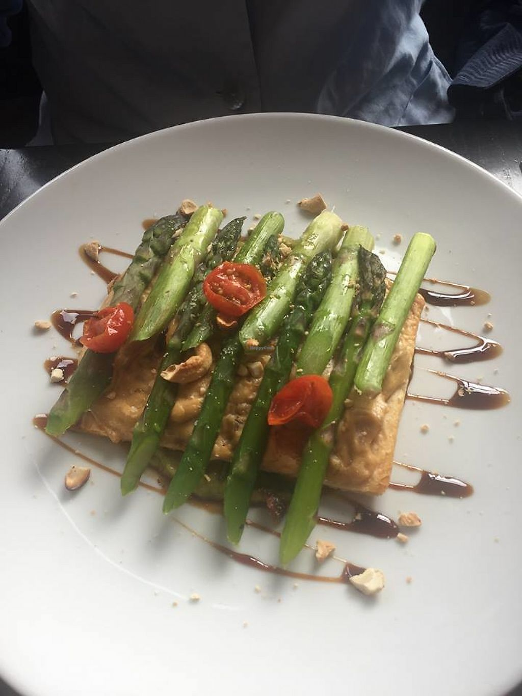 """Photo of The Gate - Islington  by <a href=""""/members/profile/small_trees"""">small_trees</a> <br/>Asparagus tart with cashew cheese  <br/> May 31, 2017  - <a href='/contact/abuse/image/32582/264457'>Report</a>"""
