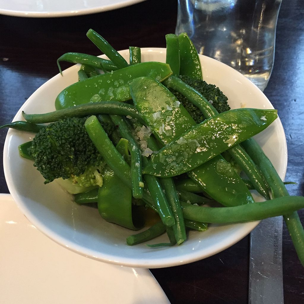 """Photo of The Gate - Islington  by <a href=""""/members/profile/suzagord"""">suzagord</a> <br/>simple side order of """"greens"""" to make me feel less decadent! <br/> July 16, 2017  - <a href='/contact/abuse/image/32582/281232'>Report</a>"""