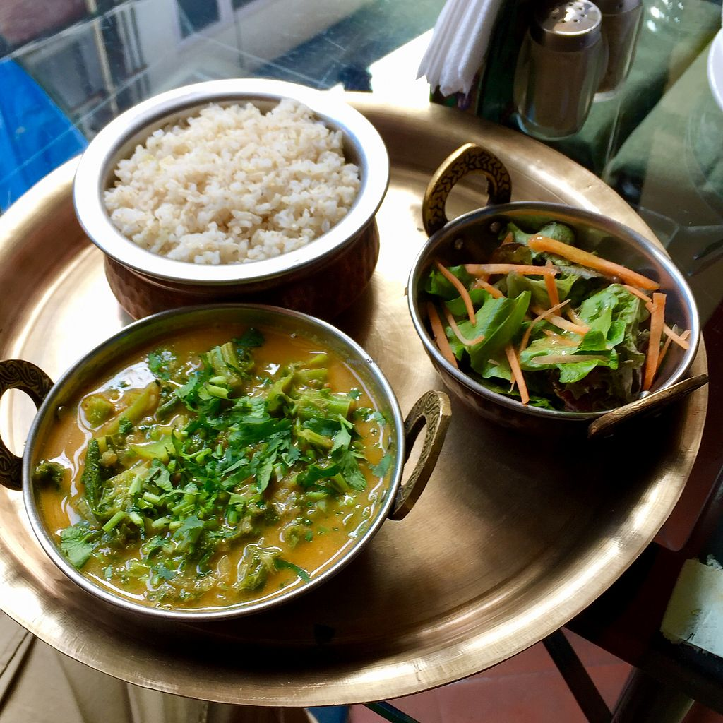 """Photo of Green Organic Cafe and Farmers Bar  by <a href=""""/members/profile/peterstuckings"""">peterstuckings</a> <br/>Green vege curry with brown rice <br/> February 2, 2018  - <a href='/contact/abuse/image/32599/353953'>Report</a>"""
