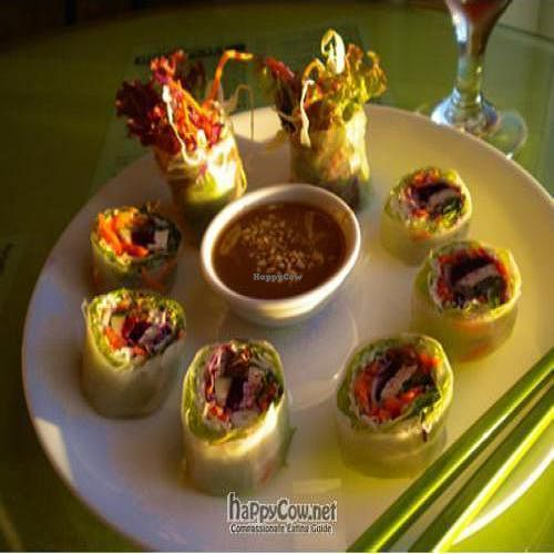 """Photo of CLOSED: Fresh Mint  by <a href=""""/members/profile/FreshMintMaui"""">FreshMintMaui</a> <br/>Fresh Summer Rolls: Fresh lettuce and herbs with tofu, soy ham and vermicelli, served with homemade peanut sauce. $4.95 <br/> June 27, 2010  - <a href='/contact/abuse/image/3267/4940'>Report</a>"""