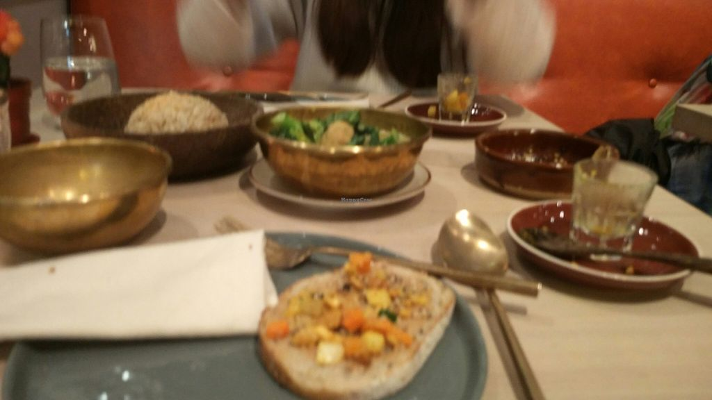 "Photo of Grassroots Pantry  by <a href=""/members/profile/Idiosyncratinom"">Idiosyncratinom</a> <br/>We read reviews before ordering, and expected small dishes. We thought the starter (veg on toast) was the main course!  <br/> January 8, 2016  - <a href='/contact/abuse/image/32681/131508'>Report</a>"