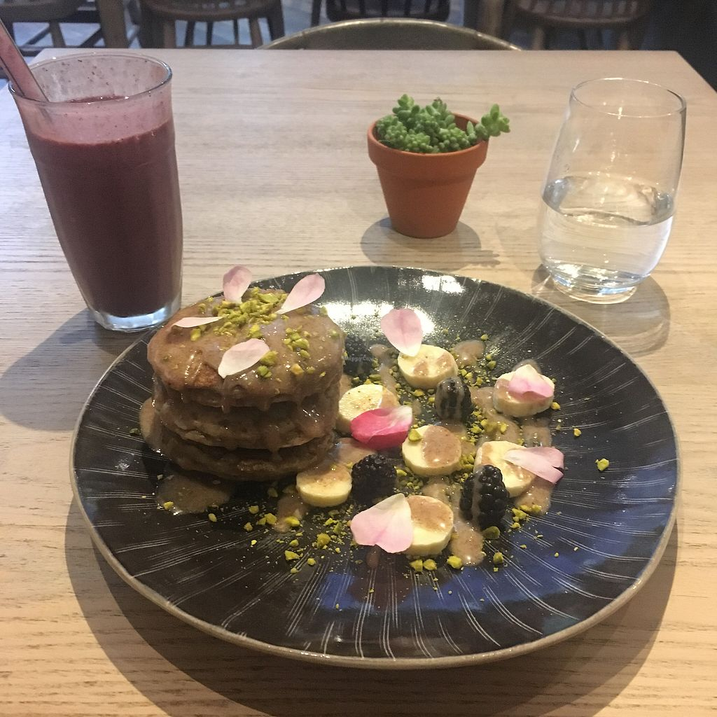 "Photo of Grassroots Pantry  by <a href=""/members/profile/amandals"">amandals</a> <br/>Lemon chia pancakes and berry smoothie  <br/> April 21, 2018  - <a href='/contact/abuse/image/32681/389032'>Report</a>"