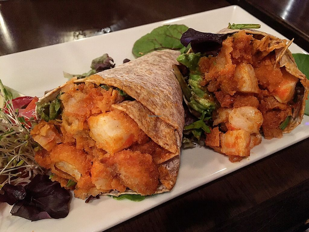 """Photo of The Purple Elephant Restaurant  by <a href=""""/members/profile/LilMsVegan"""">LilMsVegan</a> <br/>Vegan buffalo shrimp tacos <br/> December 15, 2017  - <a href='/contact/abuse/image/32708/335656'>Report</a>"""