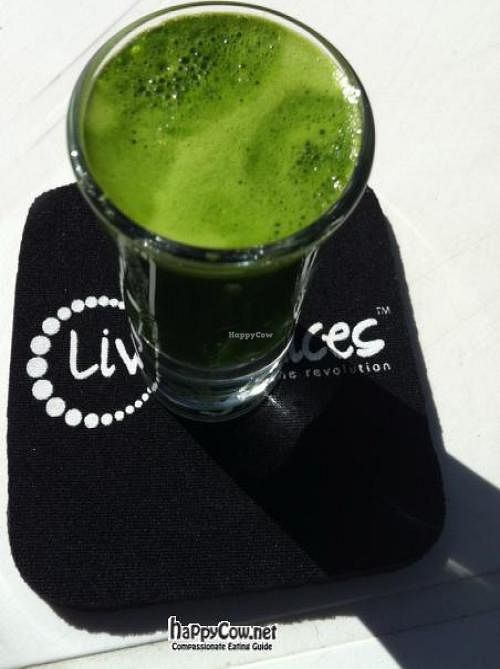 "Photo of Living Juices  by <a href=""/members/profile/patthai74"">patthai74</a> <br/>Wheatgrass shot <br/> June 16, 2012  - <a href='/contact/abuse/image/32718/33369'>Report</a>"