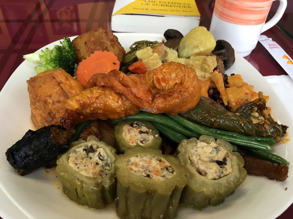 """Photo of ChuMinh Tofu and Veggie Deli  by <a href=""""/members/profile/Veg4Jay"""">Veg4Jay</a> <br/>My plate From Buffet <br/> March 15, 2017  - <a href='/contact/abuse/image/32735/236890'>Report</a>"""