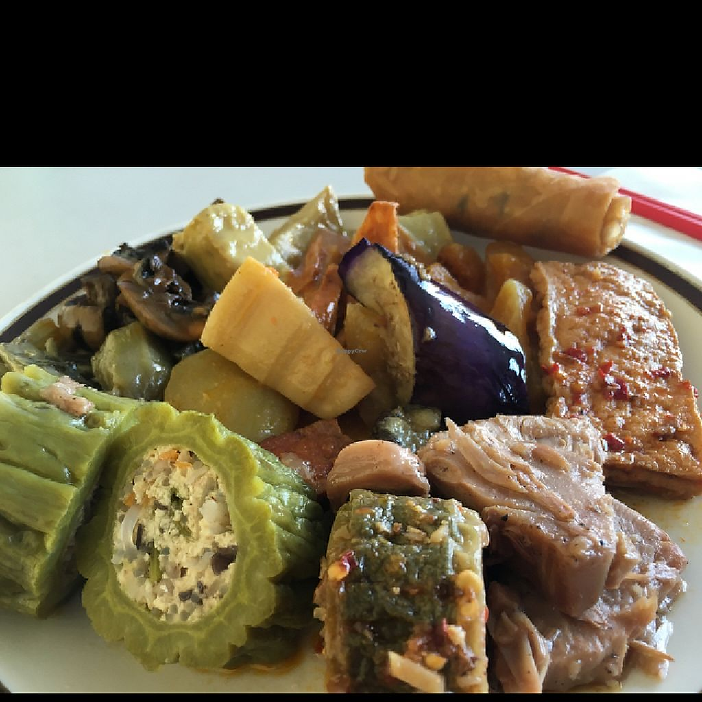 """Photo of ChuMinh Tofu and Veggie Deli  by <a href=""""/members/profile/Veg4Jay"""">Veg4Jay</a> <br/>Buffet plate today <br/> May 10, 2017  - <a href='/contact/abuse/image/32735/257634'>Report</a>"""