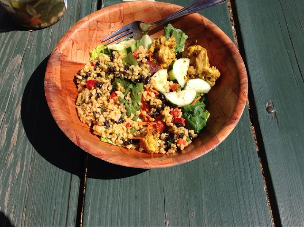 """Photo of Earthbound Farm Stand and Cafe  by <a href=""""/members/profile/ShantiPeace"""">ShantiPeace</a> <br/>mixed salad <br/> September 26, 2015  - <a href='/contact/abuse/image/32743/119213'>Report</a>"""