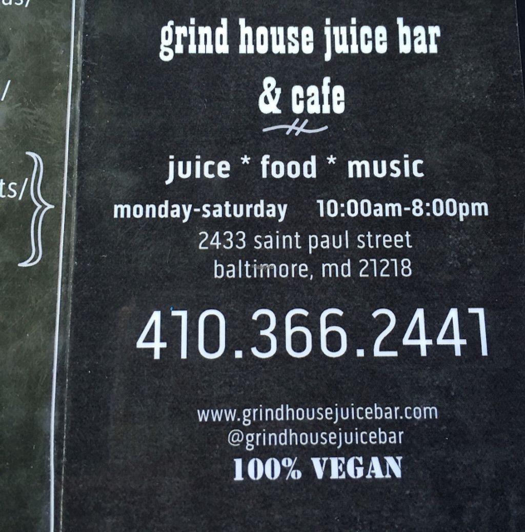 """Photo of Grind House Juice Bar  by <a href=""""/members/profile/nardanddee"""">nardanddee</a> <br/>contact info <br/> January 26, 2017  - <a href='/contact/abuse/image/32754/217530'>Report</a>"""