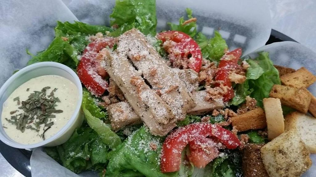 """Photo of Grind House Juice Bar  by <a href=""""/members/profile/ayoluwa7"""">ayoluwa7</a> <br/>chick'n ceasar salad <br/> September 2, 2014  - <a href='/contact/abuse/image/32754/78874'>Report</a>"""