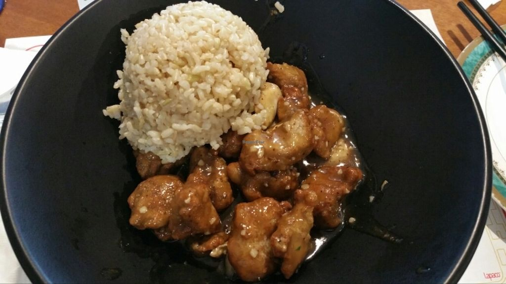 """Photo of Sipz Fusion Cafe - Clairemont Mesa  by <a href=""""/members/profile/anne420"""">anne420</a> <br/>Peppered pork with brown rice <br/> January 17, 2016  - <a href='/contact/abuse/image/3275/132768'>Report</a>"""