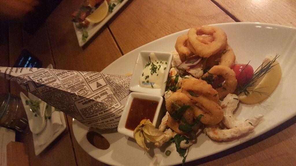"""Photo of Van Loon  by <a href=""""/members/profile/Uncertain_Times"""">Uncertain_Times</a> <br/>vegan shrimp and calimari <br/> November 6, 2016  - <a href='/contact/abuse/image/32797/186767'>Report</a>"""