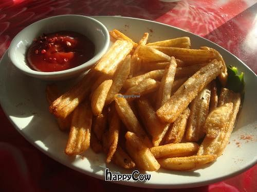 """Photo of CLOSED: Kaya Island Eats  by <a href=""""/members/profile/Sonja%20and%20Dirk"""">Sonja and Dirk</a> <br/>battered fries with truffle ketchup <br/> March 16, 2013  - <a href='/contact/abuse/image/32801/45567'>Report</a>"""