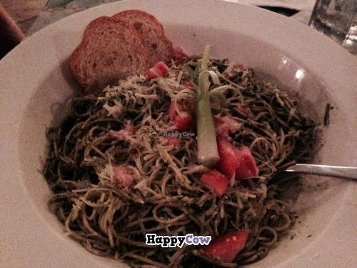 """Photo of CLOSED: Kaya Island Eats  by <a href=""""/members/profile/happycowgirl"""">happycowgirl</a> <br/>Rasta Pasta (pesto) <br/> December 25, 2013  - <a href='/contact/abuse/image/32801/60895'>Report</a>"""