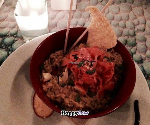 """Photo of CLOSED: Kaya Island Eats  by <a href=""""/members/profile/happycowgirl"""">happycowgirl</a> <br/>Rice Bowl w tofu  <br/> December 25, 2013  - <a href='/contact/abuse/image/32801/60897'>Report</a>"""