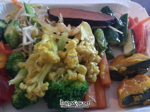 """Photo of CLOSED: Jia Hur Vegetarian Buffet  by <a href=""""/members/profile/eric"""">eric</a> <br/>plate of food from buffet <br/> June 18, 2012  - <a href='/contact/abuse/image/32812/33476'>Report</a>"""