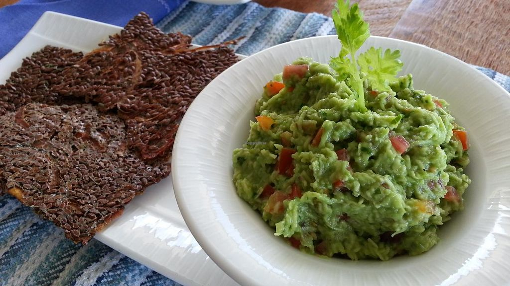 "Photo of Vikasa Yoga Retreat and Restaurant  by <a href=""/members/profile/eric"">eric</a> <br/>guacamole and raw chips <br/> November 14, 2014  - <a href='/contact/abuse/image/32813/85559'>Report</a>"