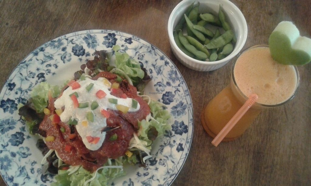 """Photo of Bonita Cafe and Social Club  by <a href=""""/members/profile/VeganCrush"""">VeganCrush</a> <br/>raw spaghetti and edamame <br/> June 27, 2016  - <a href='/contact/abuse/image/32850/156335'>Report</a>"""