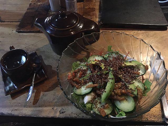 "Photo of Dayu's Warung  by <a href=""/members/profile/samesamebutvegan"">samesamebutvegan</a> <br/>salad bowl and holistic tea <br/> June 20, 2017  - <a href='/contact/abuse/image/32883/271253'>Report</a>"