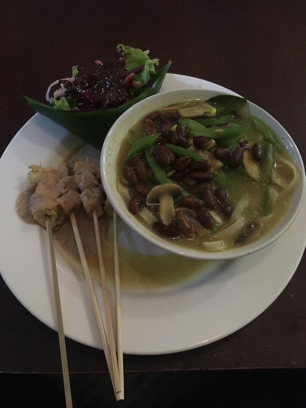 """Photo of Dayu's Warung  by <a href=""""/members/profile/samesamebutvegan"""">samesamebutvegan</a> <br/>Rice noodles with Thai curry <br/> July 7, 2017  - <a href='/contact/abuse/image/32883/277442'>Report</a>"""