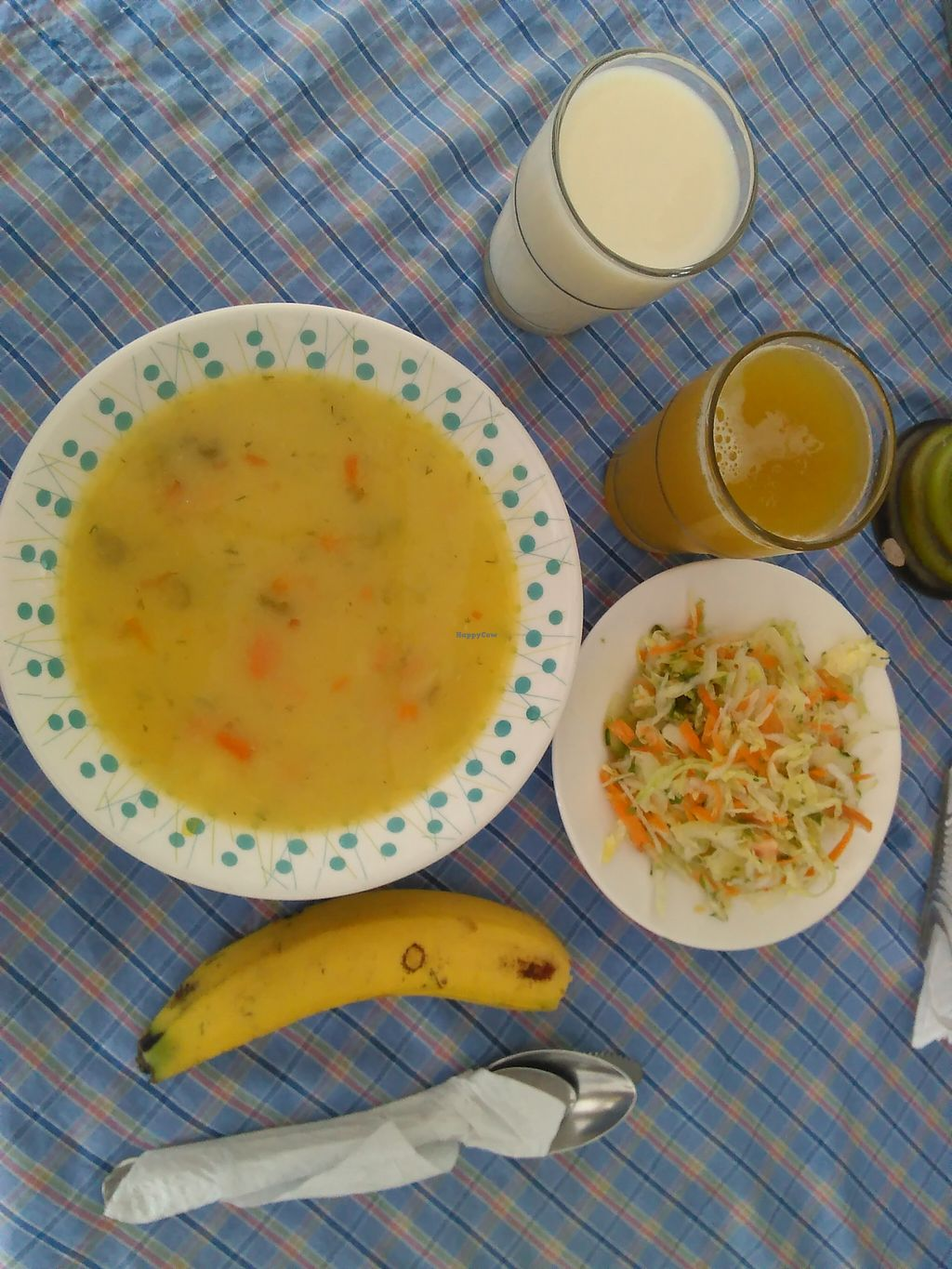 """Photo of REMOVED: Rincon Vegetariano  by <a href=""""/members/profile/maynard7"""">maynard7</a> <br/>Soup, salad & drinks... meal of the the day in March 2016 <br/> March 7, 2016  - <a href='/contact/abuse/image/32899/139126'>Report</a>"""