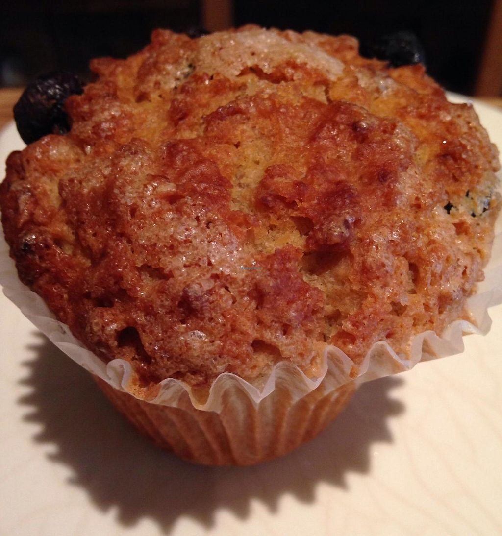 """Photo of Le Pain Quotidien - Bethesda Lane  by <a href=""""/members/profile/cookiem"""">cookiem</a> <br/>Vegan blueberry muffin <br/> June 5, 2014  - <a href='/contact/abuse/image/32905/201774'>Report</a>"""