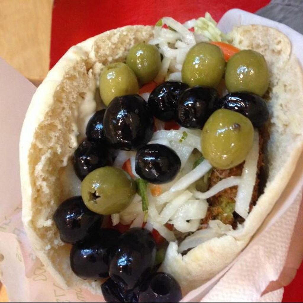 "Photo of CLOSED: Maoz Vegetarian - Xavier Privas  by <a href=""/members/profile/efetcho"">efetcho</a> <br/>Falafel pita <br/> August 15, 2014  - <a href='/contact/abuse/image/3296/77050'>Report</a>"