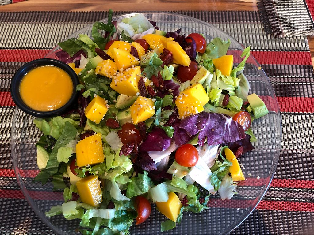 """Photo of Vegan Planet  by <a href=""""/members/profile/audreytanberg"""">audreytanberg</a> <br/>Mango avocado salad  <br/> April 2, 2018  - <a href='/contact/abuse/image/32976/379958'>Report</a>"""