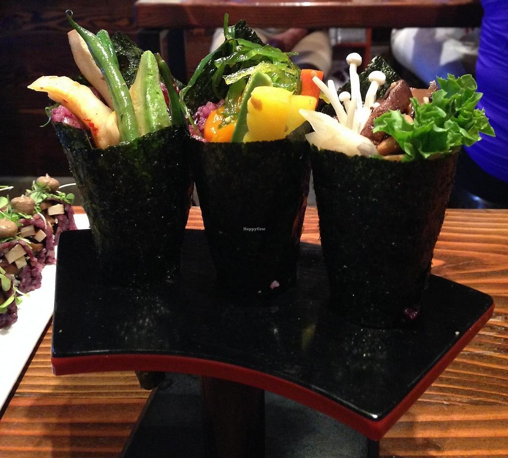 """Photo of Beyond Sushi - Union Square  by <a href=""""/members/profile/slo0go"""">slo0go</a> <br/>Hand rolls <br/> August 24, 2014  - <a href='/contact/abuse/image/32985/211674'>Report</a>"""