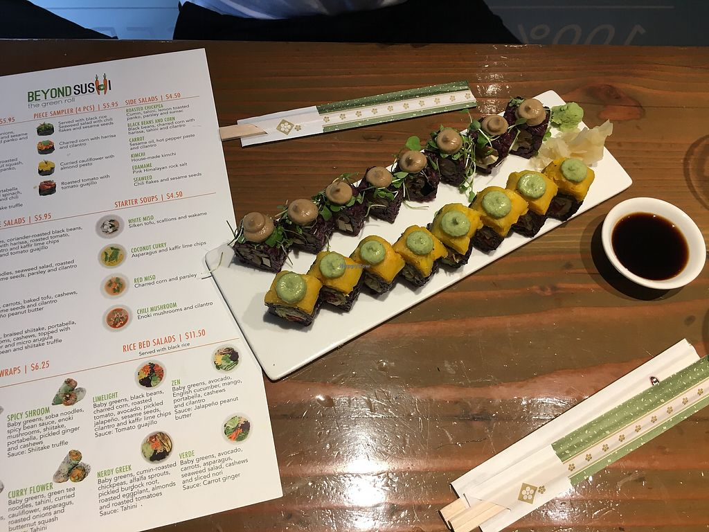 """Photo of Beyond Sushi - Union Square  by <a href=""""/members/profile/LauraZr"""">LauraZr</a> <br/>Mighty mushroom  <br/> September 14, 2017  - <a href='/contact/abuse/image/32985/304282'>Report</a>"""