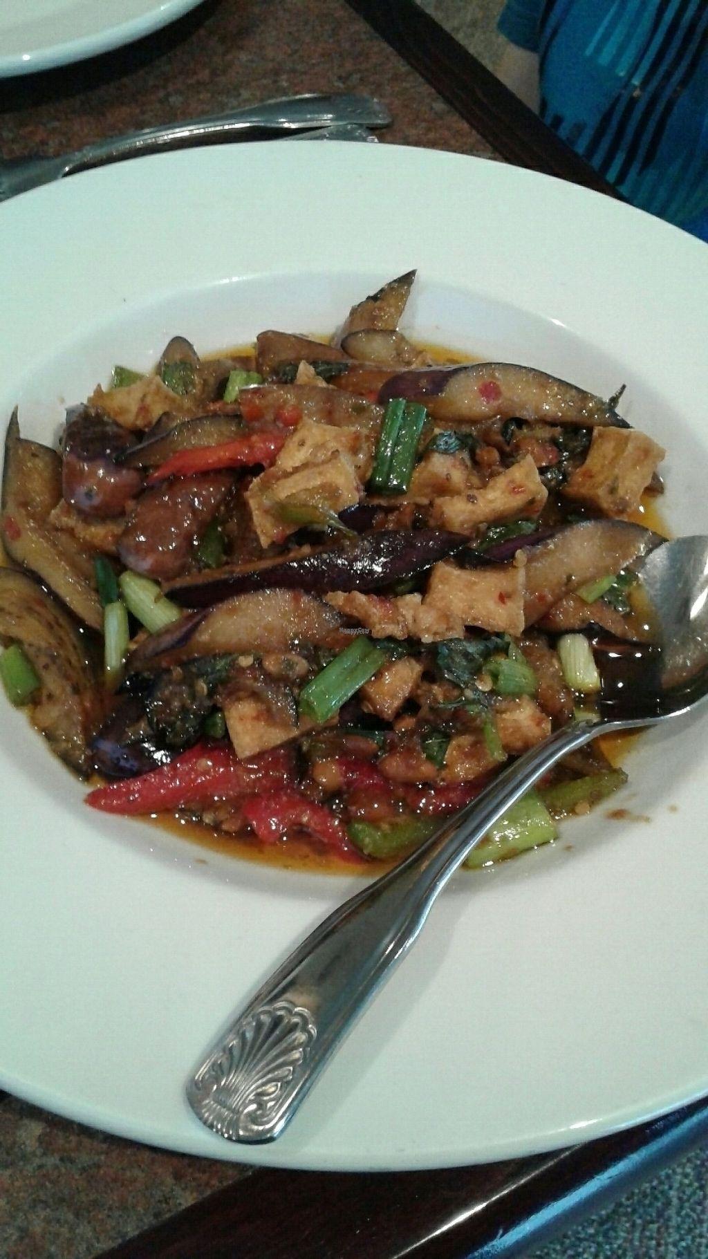 "Photo of Lemon Grass Thai Restaurant  by <a href=""/members/profile/JeffBlatnick"">JeffBlatnick</a> <br/>Pad Ka Pow - Egg plant with Bean sauce ????? <br/> April 8, 2017  - <a href='/contact/abuse/image/33005/245612'>Report</a>"