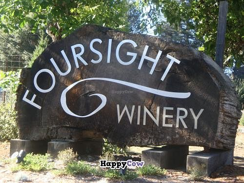 """Photo of Foursight Wines  by <a href=""""/members/profile/Sonja%20and%20Dirk"""">Sonja and Dirk</a> <br/>sign on roadside <br/> August 25, 2013  - <a href='/contact/abuse/image/33015/53749'>Report</a>"""