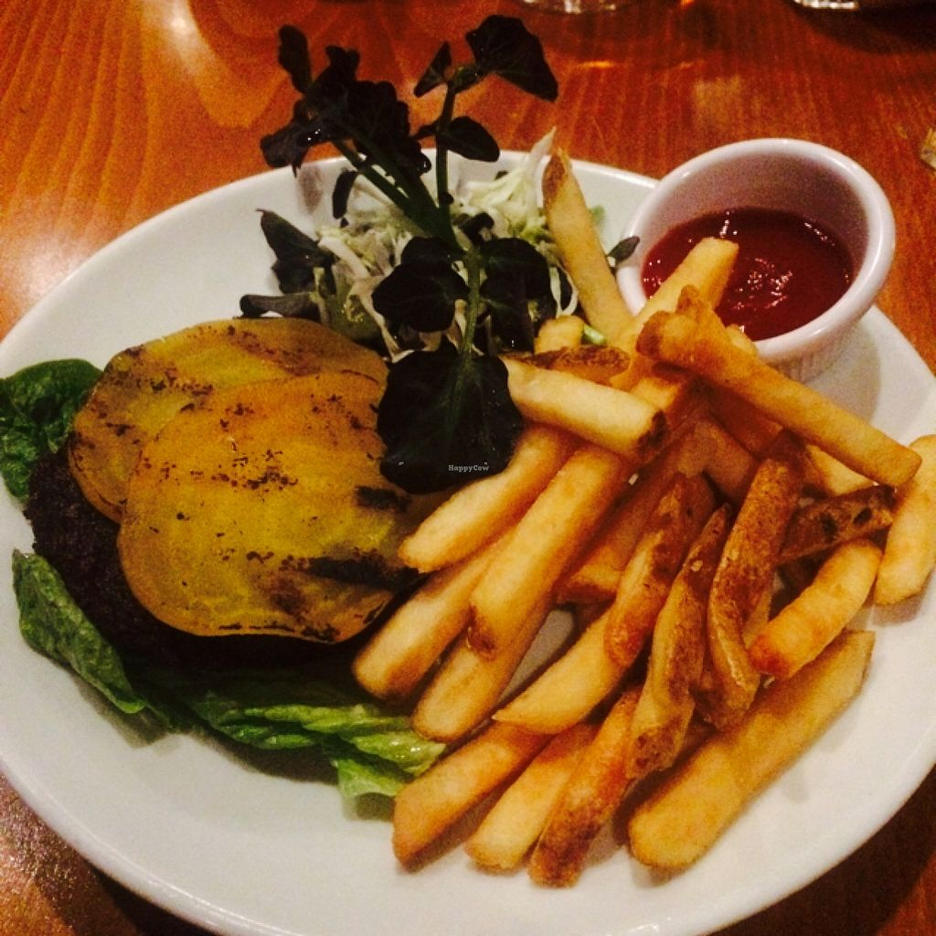 """Photo of Sweet Grass Grill  by <a href=""""/members/profile/pandapuffsss"""">pandapuffsss</a> <br/>Beet burger on a bed of lettuce <br/> February 21, 2016  - <a href='/contact/abuse/image/33020/137161'>Report</a>"""