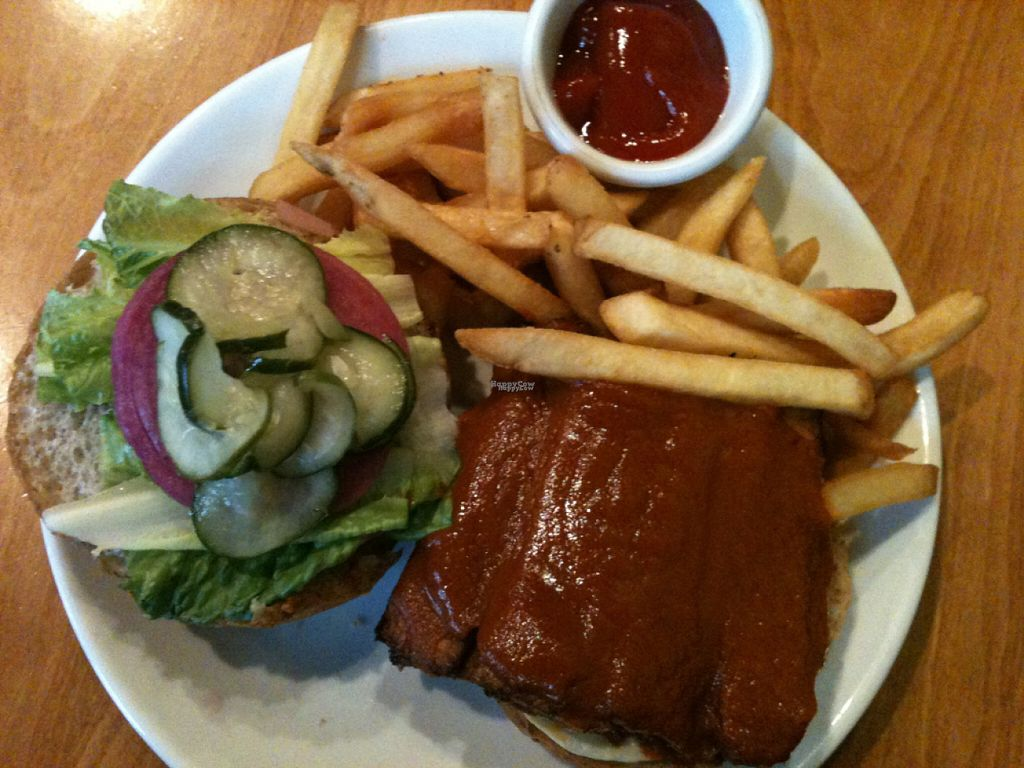 """Photo of Sweet Grass Grill  by <a href=""""/members/profile/ecoRDN"""">ecoRDN</a> <br/>Buffalo Tempeh (On Bun) By Sweetgrass Grill, Tarrytown, NY - Photo By ecoRDN ecoRDN.com <br/> November 3, 2016  - <a href='/contact/abuse/image/33020/186390'>Report</a>"""