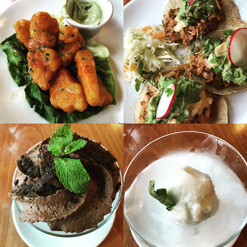 """Photo of Sweet Grass Grill  by <a href=""""/members/profile/DanaCohen"""">DanaCohen</a> <br/>Magic happens when a restaurant has many delicious vegan items on their menu and the place is always busy <br/> May 13, 2018  - <a href='/contact/abuse/image/33020/399399'>Report</a>"""
