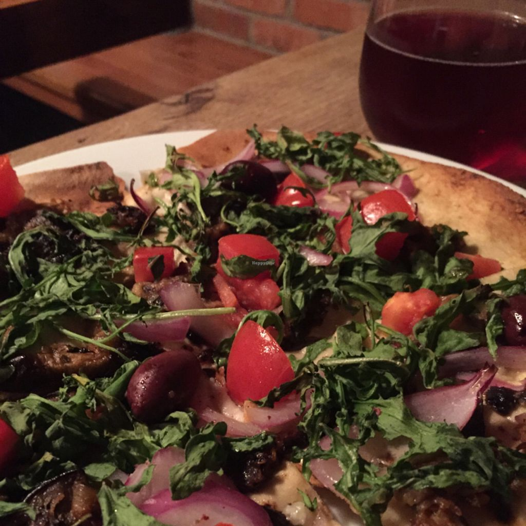 "Photo of Meditrina Market Cafe  by <a href=""/members/profile/happycowgirl"">happycowgirl</a> <br/>Olive Oil and Garlic vegan pizza (a special of the day) <br/> July 30, 2016  - <a href='/contact/abuse/image/33023/163295'>Report</a>"
