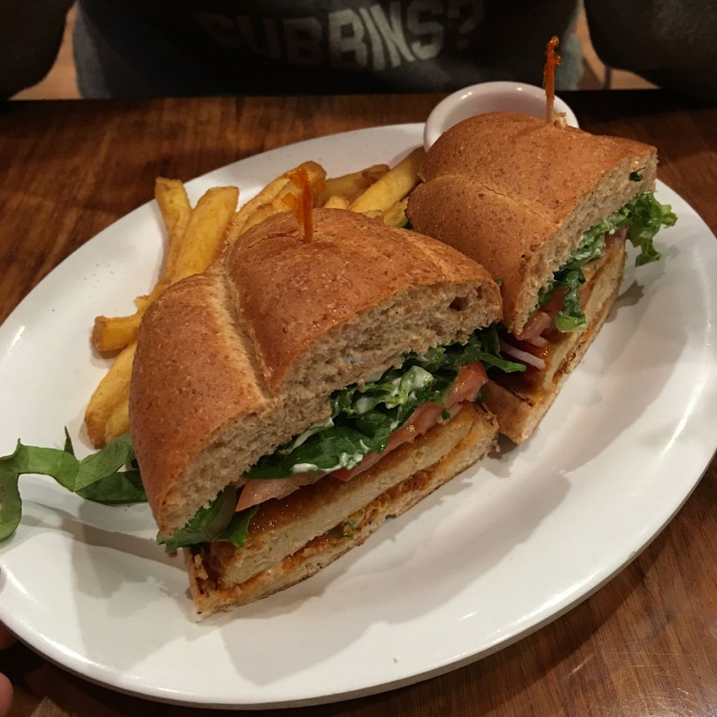 """Photo of Veggie Grill  by <a href=""""/members/profile/xmrfigx"""">xmrfigx</a> <br/>buffalo chik'n sandwich <br/> December 18, 2015  - <a href='/contact/abuse/image/33046/129016'>Report</a>"""