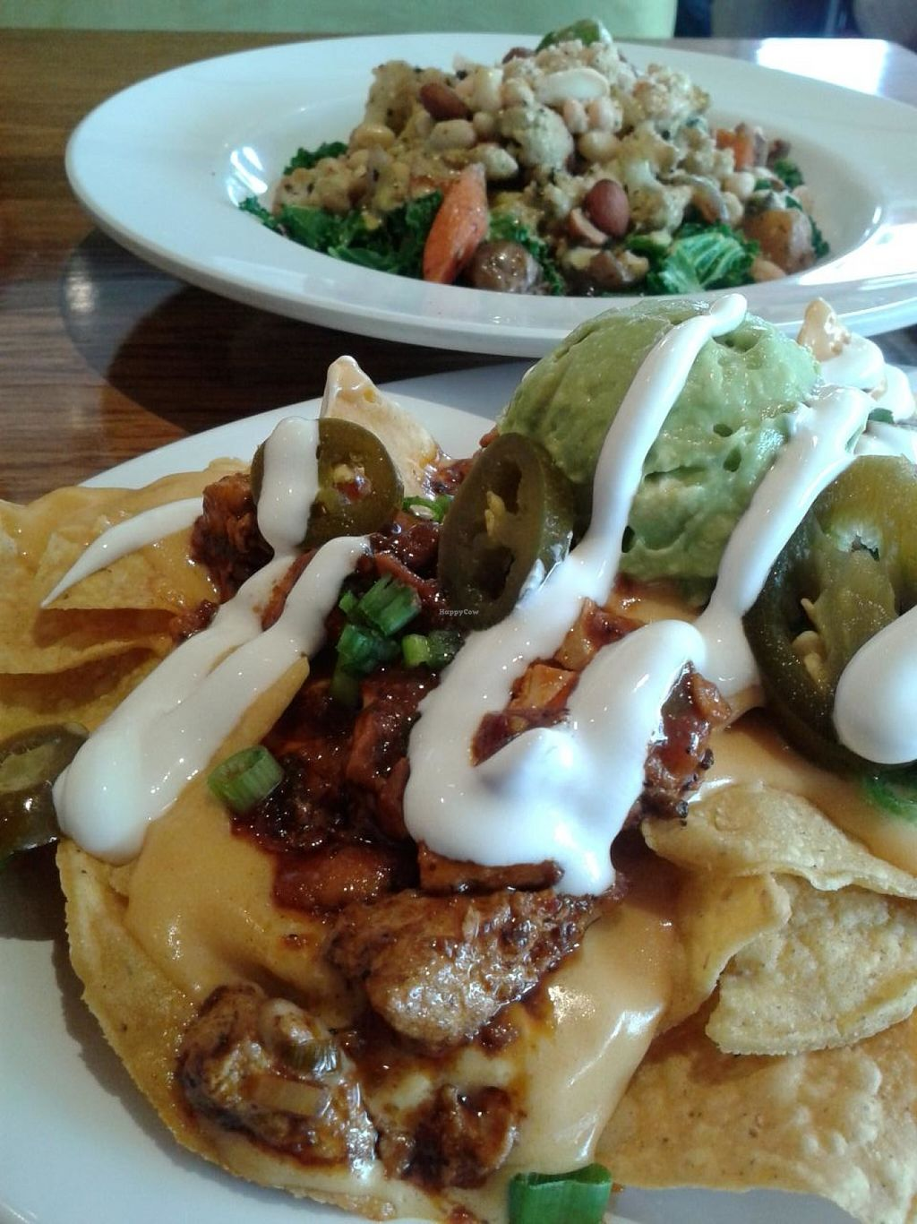 """Photo of Veggie Grill  by <a href=""""/members/profile/chobesoy"""">chobesoy</a> <br/>today's lunch: loaded nachos and Bombay curry bowl. So awesome <br/> February 22, 2014  - <a href='/contact/abuse/image/33046/186948'>Report</a>"""
