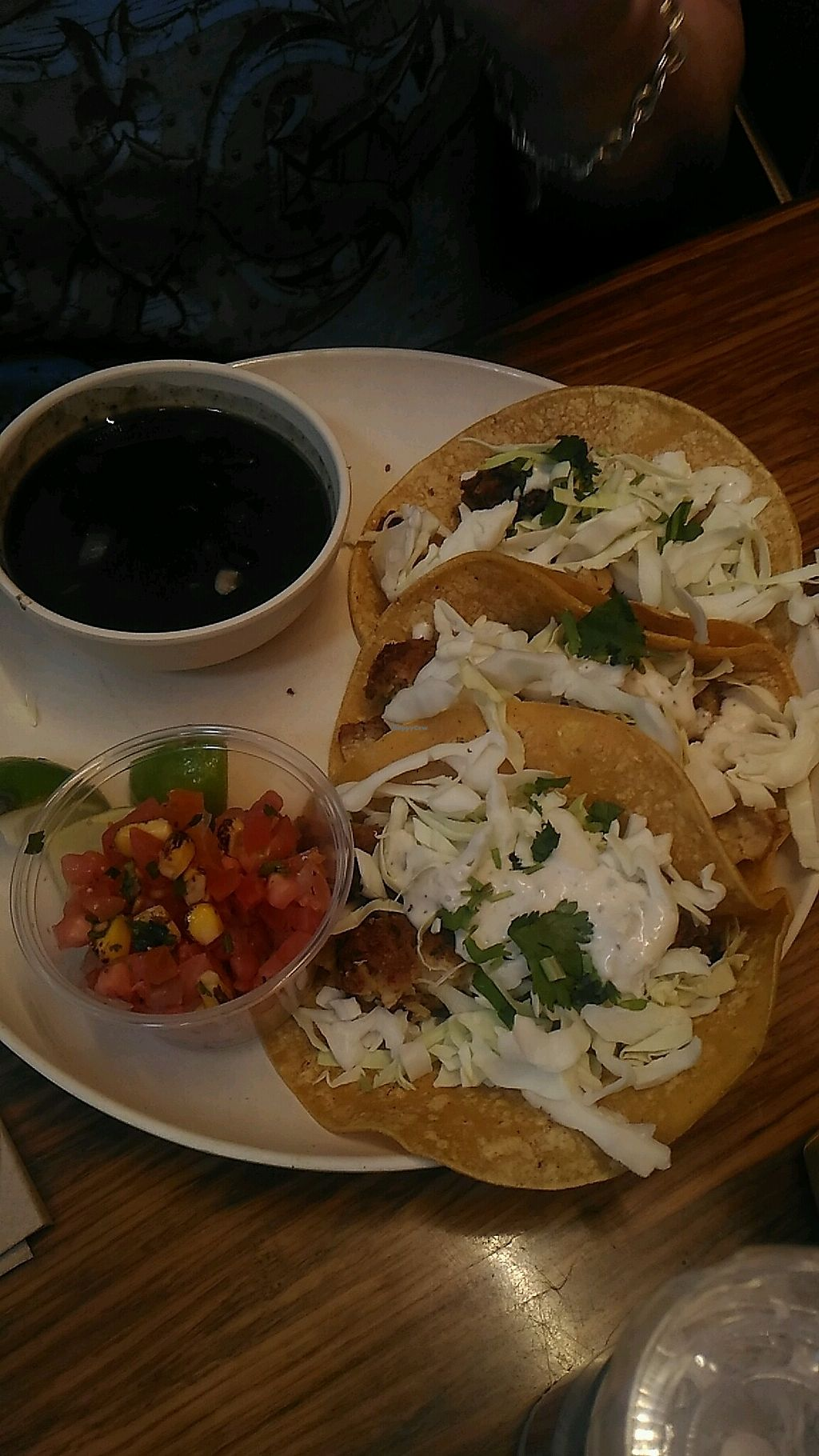 """Photo of Veggie Grill  by <a href=""""/members/profile/QuothTheRaven"""">QuothTheRaven</a> <br/>fish tacos <br/> March 17, 2018  - <a href='/contact/abuse/image/33046/371577'>Report</a>"""