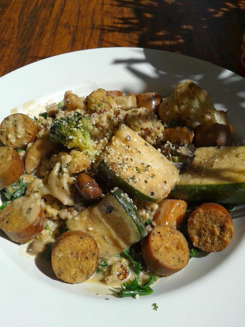 """Photo of Veggie Grill  by <a href=""""/members/profile/chobesoy"""">chobesoy</a> <br/>New grilled veggie curry with Field Roast sausage <br/> April 11, 2014  - <a href='/contact/abuse/image/33046/67414'>Report</a>"""