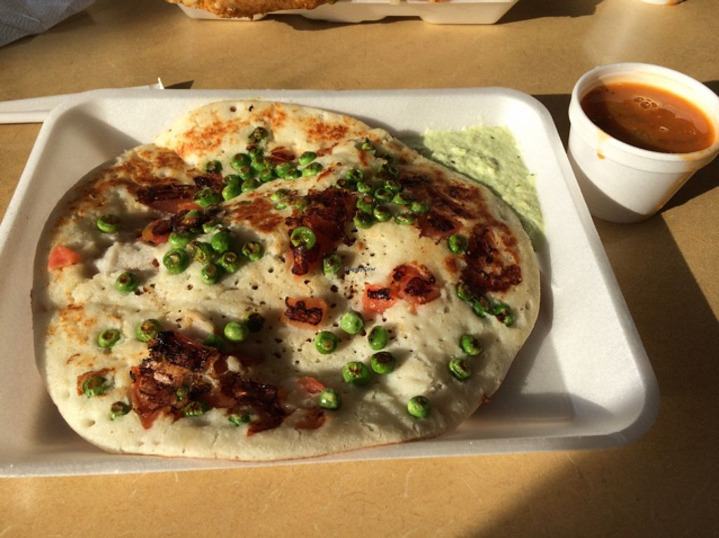 """Photo of Dosa Hut  by <a href=""""/members/profile/veggiehobbit"""">veggiehobbit</a> <br/>tomato and peas uthappam  <br/> December 19, 2015  - <a href='/contact/abuse/image/3304/129124'>Report</a>"""