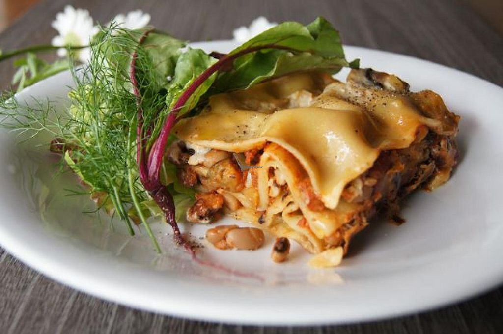 Photo of CLOSED: Tosca  by TOSCA Kyoto <br/>black eyed peas & summer vegetable lasagne with fresh herb salad.  <br/> January 9, 2015  - <a href='/contact/abuse/image/33053/89864'>Report</a>