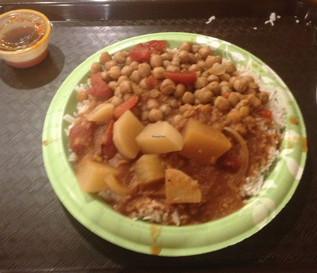 """Photo of Curry Masala  by <a href=""""/members/profile/vegan_ryan"""">vegan_ryan</a> <br/>2 curry plate with rice <br/> October 14, 2015  - <a href='/contact/abuse/image/33059/224660'>Report</a>"""