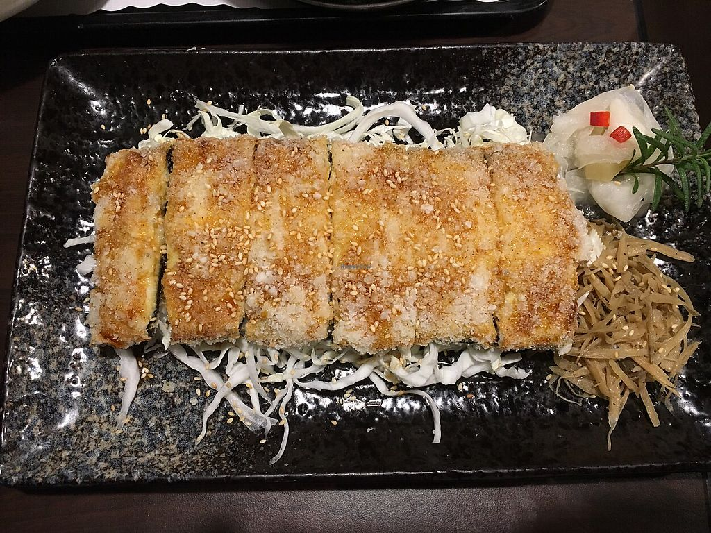 """Photo of DaHui Vegetarian Restaurant  by <a href=""""/members/profile/AnnLiu"""">AnnLiu</a> <br/>vegan eel made with tofu,yam,nori and the sauce is so delicious <br/> April 13, 2018  - <a href='/contact/abuse/image/33065/385196'>Report</a>"""