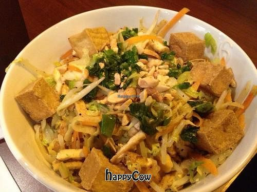 """Photo of Pho Hut  by <a href=""""/members/profile/morethanfine"""">morethanfine</a> <br/>Vegetarian 'Crispy Tofu' w/ Noodles (Bun Chay) <br/> February 8, 2013  - <a href='/contact/abuse/image/33067/43971'>Report</a>"""