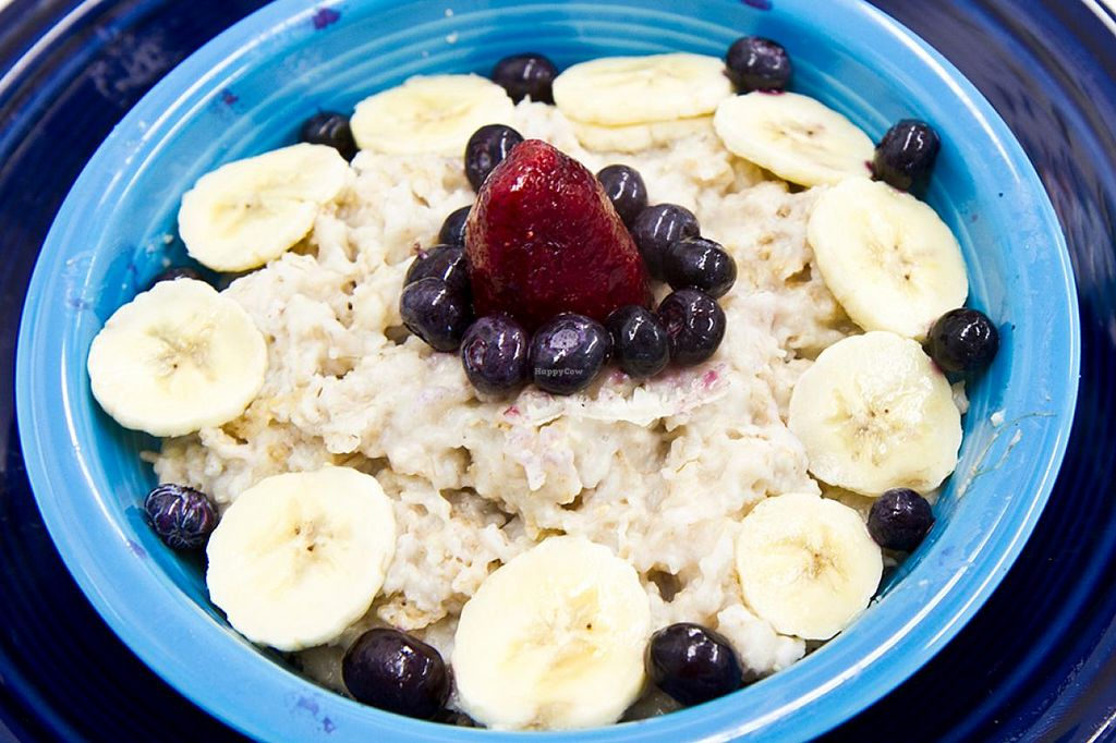 """Photo of Smile of the Beyond  by <a href=""""/members/profile/northstar7"""">northstar7</a> <br/>Oatmeal with Bananas and Berries at the Smile of the Beyond in Jamaica, NY <br/> December 15, 2014  - <a href='/contact/abuse/image/3306/88022'>Report</a>"""