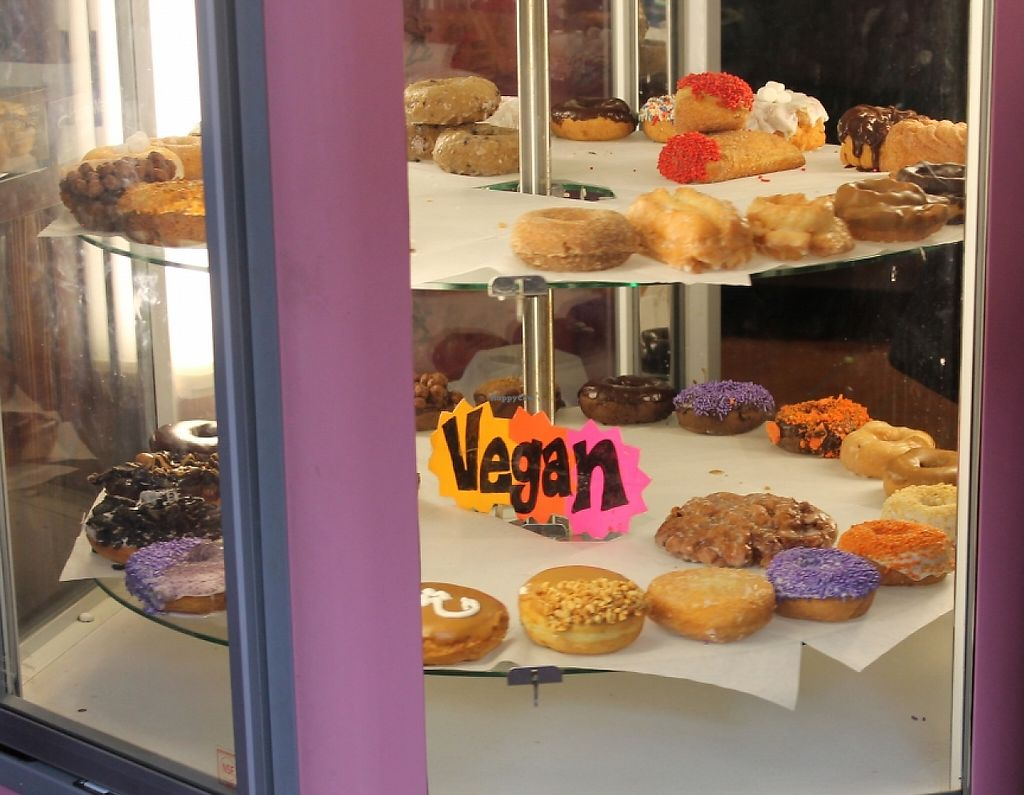 """Photo of Voodoo Doughnut  by <a href=""""/members/profile/Raesock"""">Raesock</a> <br/>vegan doughnut selection <br/> November 1, 2015  - <a href='/contact/abuse/image/33103/220550'>Report</a>"""