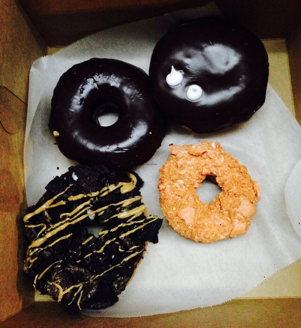 """Photo of Voodoo Doughnut  by <a href=""""/members/profile/NirvanaRoseWilliams"""">NirvanaRoseWilliams</a> <br/>Vegan donuts  <br/> June 24, 2017  - <a href='/contact/abuse/image/33103/272837'>Report</a>"""