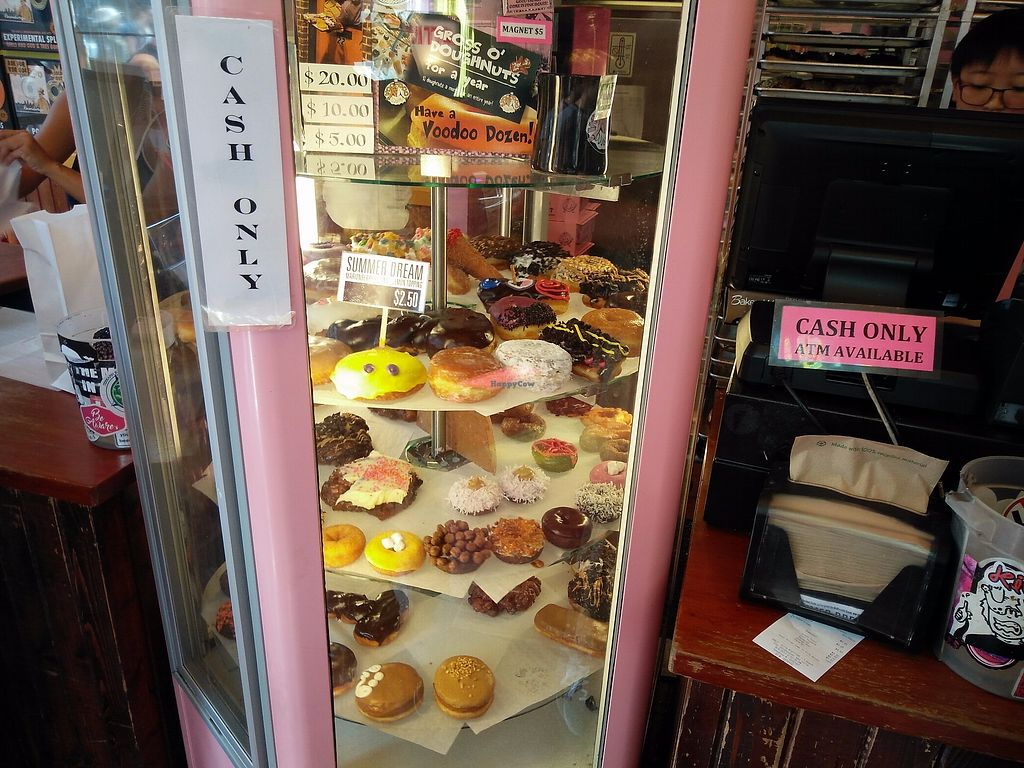 """Photo of Voodoo Doughnut  by <a href=""""/members/profile/martinicontomate"""">martinicontomate</a> <br/>huge selection (half of it is vegan( <br/> September 16, 2017  - <a href='/contact/abuse/image/33103/305074'>Report</a>"""
