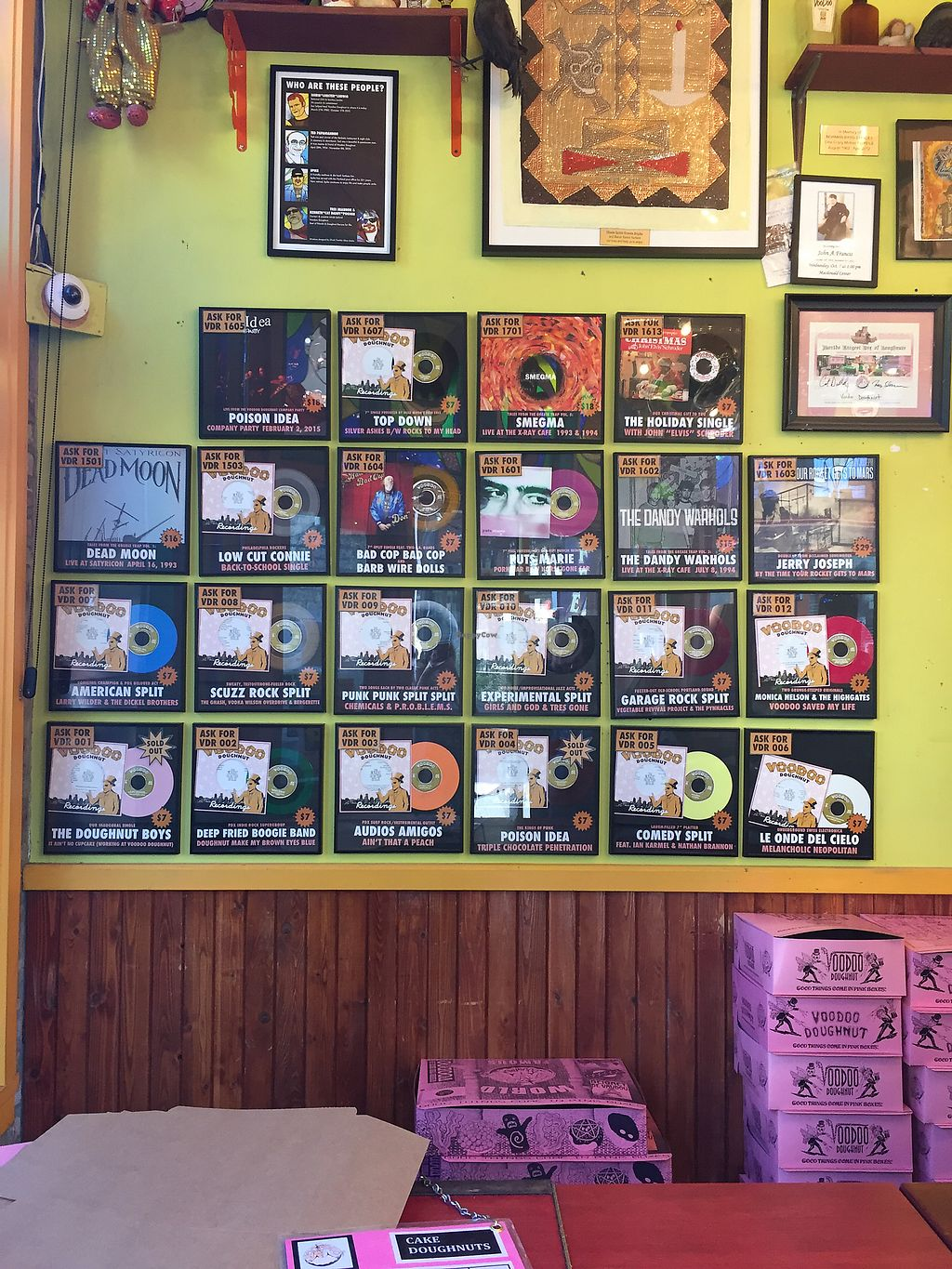 """Photo of Voodoo Doughnut  by <a href=""""/members/profile/TheVeganNarwhal"""">TheVeganNarwhal</a> <br/>Inside decor <br/> February 12, 2018  - <a href='/contact/abuse/image/33103/358230'>Report</a>"""